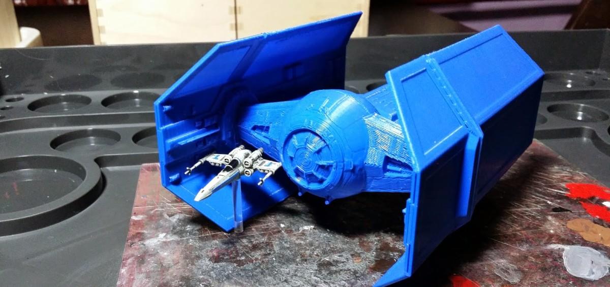 Star Wars Druk 3D modele X-wing tie-fighter