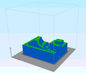 Symulacja procesu FDM uzbrojonego w dyszę 0.4 mm na warstwie 0.2 mm