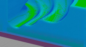 Zbliżenie na jakość odwzorowania geometrii w technologii FDM, warstwa 0.5 mm