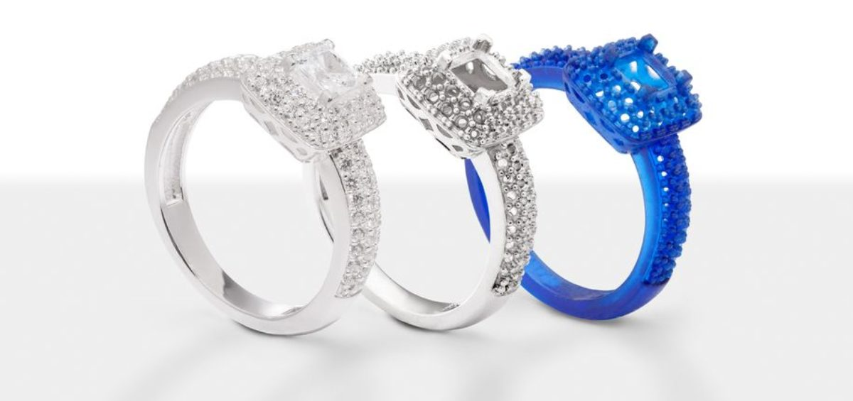 Biżuteria drukowana w 3D - pierścionek