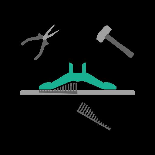 Schemat działania technologii SLA Stereolitografia - etap oczyszczania